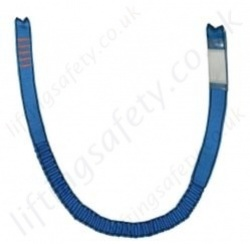 "Tractel ""LSE""  Elastic Webbing Restraint Lanyard Single Leg Many Karabiner Options - 1.5, 1.75 or 2m"