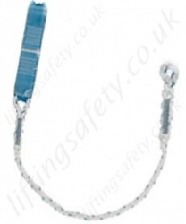 Tractel 'LCA' Energy Absorbing Fall Arrest Lanyard, Stranded Rope, Choice of Karabiners, Lengths 1.5m and 2 Metre