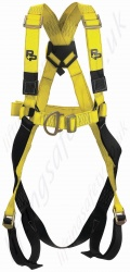 "P+P ""Quick Fit FRS"" Standard Fall Arrest Harness With Front and Rear 'D' Rings with Quick Release Leg Buckles"