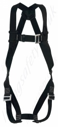 "PP ""2000"" Standard Single Point Fall Arrest Harness with Rear D ring And Pull Through Leg Buckles."