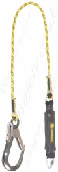 "PP ''Chunkie 175'' Single Leg Fall Arrest Lanyard from ""Webbing"" with Screw tri link and Large Aluminium Double Action Snap - 1.75m"