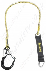 "PP ''Chunkie 175 Scaffolder'' Single Leg Fall Arrest Lanyard from ""Webbing"" with Screw tri link and large aluminium double action snaphook 62mm Opening - 1.75m"