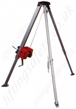 Liftingsafety Aluminium Tripod Gantry Crane Certified For