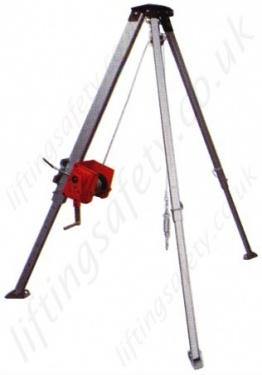 Liftingsafety Aluminium Tripod Gantry Crane Certified For