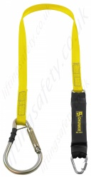"PP ''Chunkie 175 Scaffold Hook '' Single Leg Fall Arrest Lanyard from ""Webbing"" with Screw Tri Link and steel Captive Kwiklok Scaffold Hook - 1.75m"