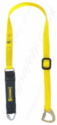 "PP ''Chunkie 175 Adjustable'' Single Leg Fall Arrest Lanyard from ""Webbing"" with Screw tri link and Captive eye Screwgate Karabiner - 1.75m"
