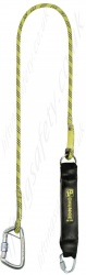 "PP ''Chunkie 175'' Single Leg Fall Arrest Lanyard from ""Webbing"" with Screw tri link and steel captive eye screwgate karabiner- 1.5m"
