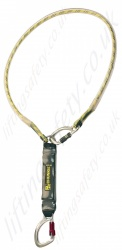 "PP ''Chunkie 200 Fixed Loop'' Single Leg Fall Arrest Lanyard from ""Webbing"" with Screw tri link and steel screwgate Karabiner- 2m"