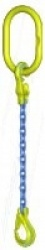 "Gunnebo ""GrabiQ TG1-EGKN"" Single Leg Chain Slings with ""Master Link TG and GBK Safety Hook. Range 1.5t to 16t"