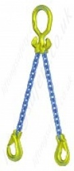 "Gunnebo GrabiQ ""MG2-EGKN"" Twin Leg Chain Sling with ""Master Link MGD and EGKN Sling Hook"" Range from 1.5t to 14t"