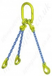 "Gunnebo GrabiQ ""TG3-EGKN Three Leg Chain Sling with ""Master Link MF and EGKN Sling Hook"" Range from 2.2t to 33.6t"