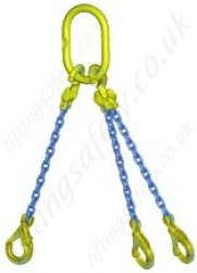 "Gunnebo GrabiQ ""TG3-GBK"" Three Leg Chain Sling with ""Master Link MF and GBK Sling Hook"" Range from 2.2t to 33.6t"