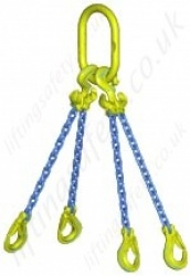 "Gunnebo GrabiQ ""TG4-EGKN"" Four Leg Chain Sling with ""Master Link MF and EGKN Sling Hook"" Range from 2.2t to 33.6t"