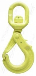 "Gunnebo ""GrabiQ LBK Swivel Safety Hook"" Chain Lifting Hook. Range from 2.5t to 10t"