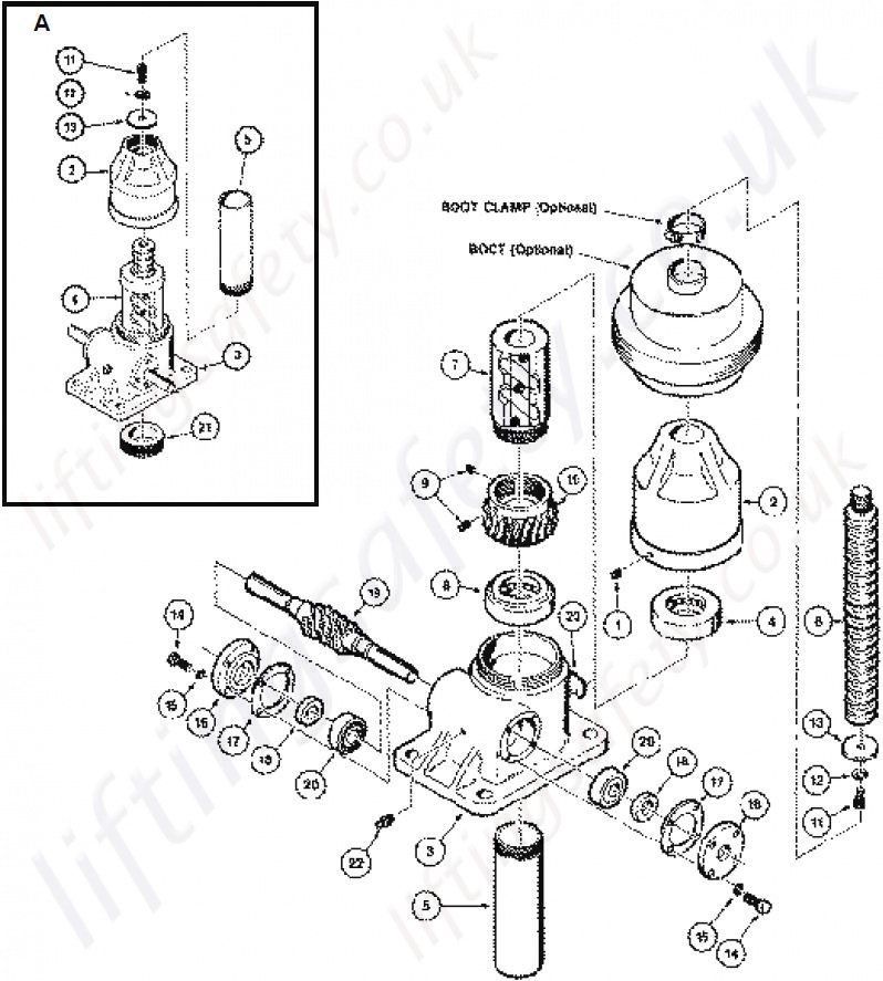 Translating Ball Screw Parts List