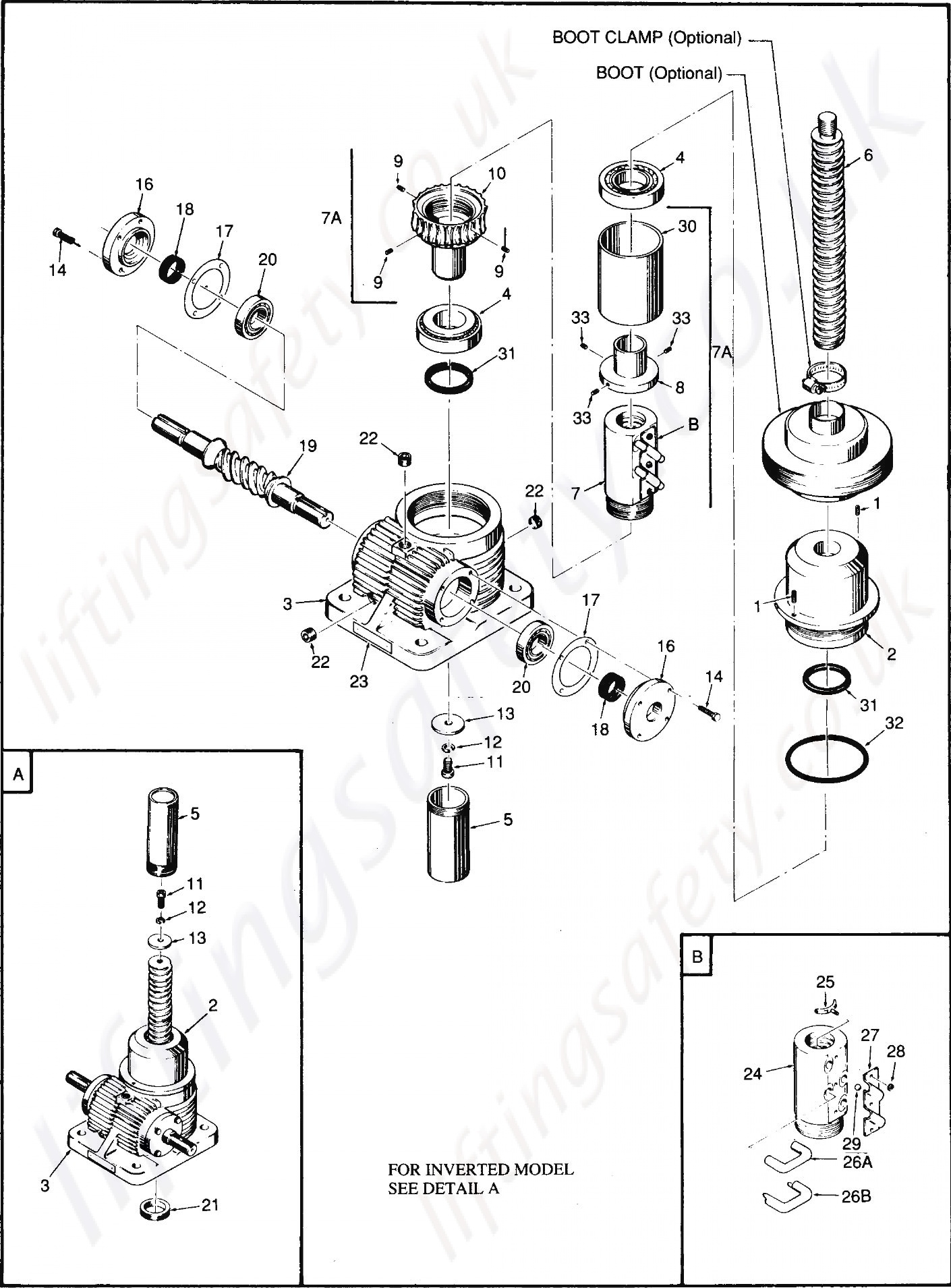 Continuous Duty Translating Parts List