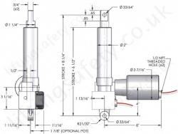 HMPB 250lb Series  Linear Actuator  LiftingSafety
