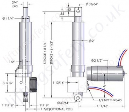 HMPB 500lb Series  Linear Actuator  LiftingSafety