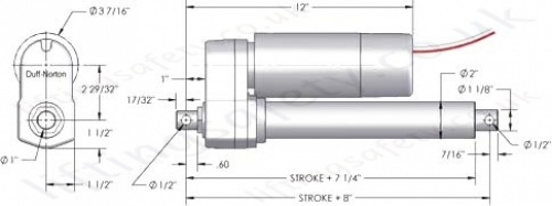 u0026quot tal 1000lb series u0026quot  linear actuator