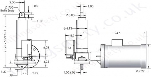 SCW05 Series Right Angle Motor Diagram