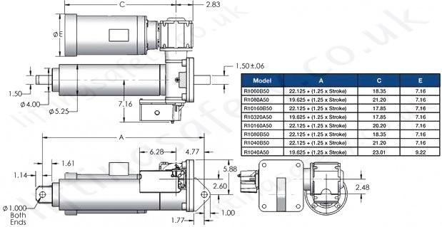 u0026quot scw10 series u0026quot  linear actuator - 10t