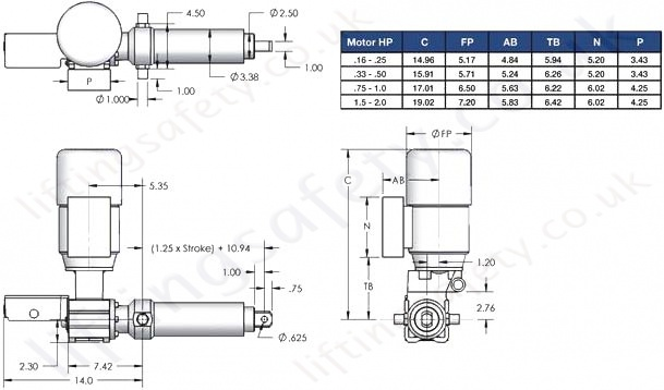 SCN03 Series Right Angle Motor Diagram