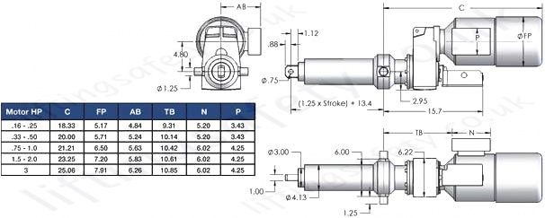 SCN06 Series Off Set Motor Diagram