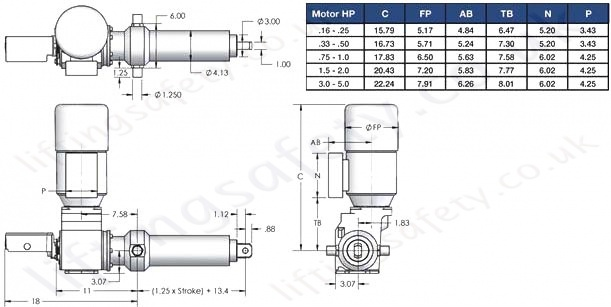SCN06 Series Right Angle Motor Diagram