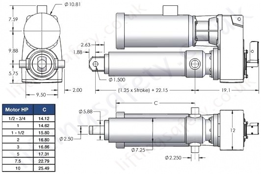 SCN25 Series Parallel Motor Diagram