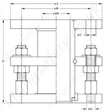 1300 Series Flanged Swivel Rotary Union Diagram