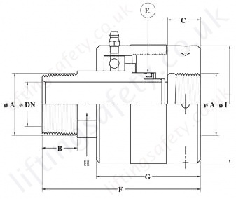 1700 Series High Pressure Swivel Rotary Union Diagram