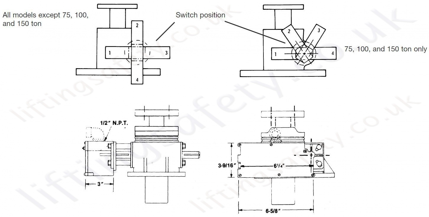 limit switch wiring diagram cranes
