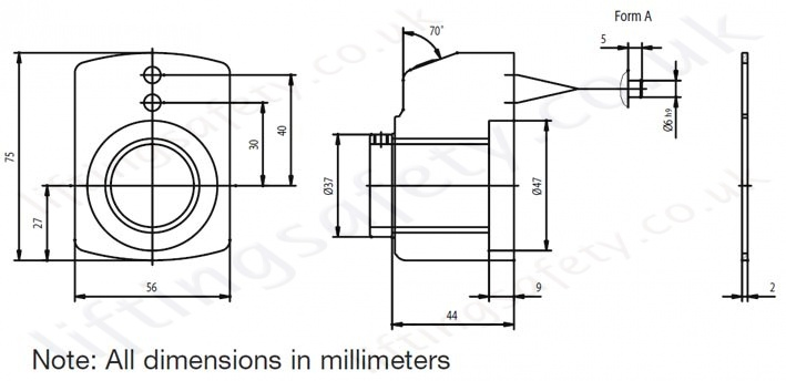 Rotary Counter Installation Dimensions