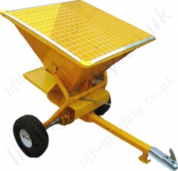 Salt Spreader Fork Lift Truck Attachment Top View