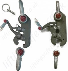 "LiftingSafety ""Load Release"" Remote Hook-Clamp - Range 590kg to 70 tonne (+ Specials)"