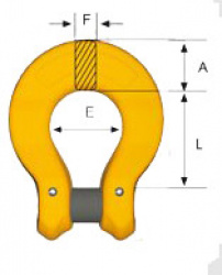 Grade 8 BL Coupling Link Dimensions