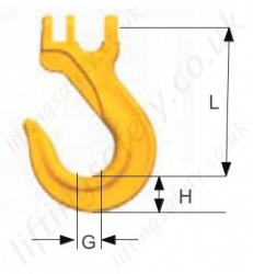 Sling Hook SKH Dimensions
