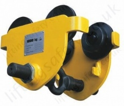 "Gunnebo ""LiftiQ Series"" Push Travel Beam Trolley Range 500kg to 5,000kg"