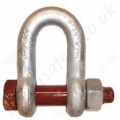 "Gunnebo ""835"" Safety ""D"" (Dee) Shackle Range 2,000kg to 55,000kg"