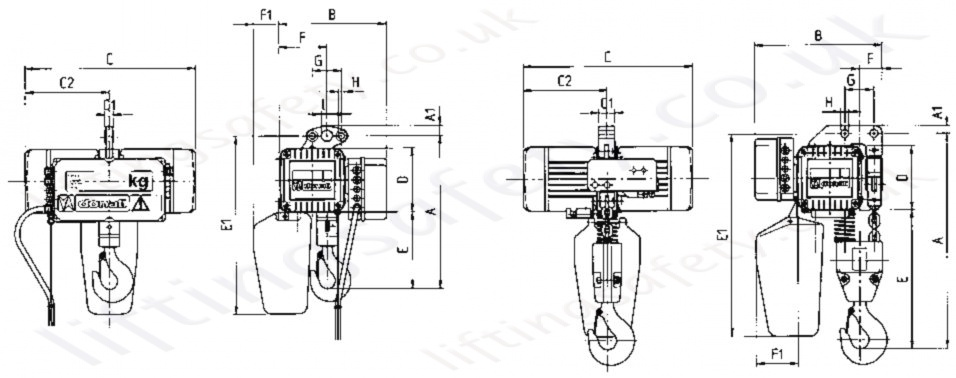 Dmk Electric Hoist Dimensions