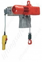 Hadef Premium AKS Electric Chain Hoist with Eye Suspension, Range from 250kg to 30,000kg