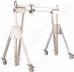 LiftingSafety Light Weight Portable Aluminium Lifting Gantry with Castors, Range 500kg to 5000kg