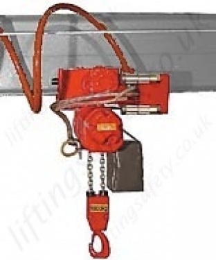 App Hoist With Pneumatic Travel Trolley
