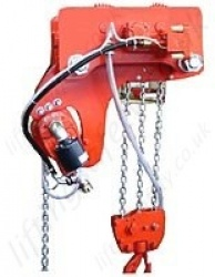 Hadef APP Low Headroom Pneumatic Hoist With Pneumatic Travel Trolley Range 500kg to 40,000kg