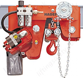 Hadef Aph Ultra Low Headroom Pneumatic Hoist With Geared