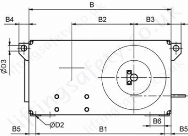 42 87 E Electric Wirerope Winch Dimensions Side