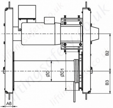 42 87 E Electric Wirerope Winch Dimensions Top