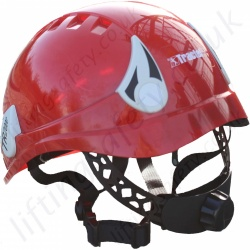 "Tractel ""TR2000"" Adjustable Climbing Helmet with Optional (not included as standard) Mounted Ear Defenders (more options available). Red, White or Blue"