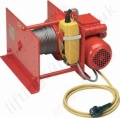 Hadef 43/86-E Single Phase Electric Wire Rope Pulling Winch Range from 125kg to 3,200kg