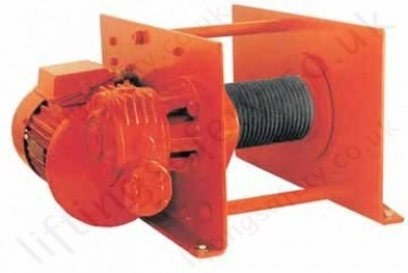hadef 43 86 e three phase electric wire rope pulling winch range 43 86 e three phase electric wirerope hoist
